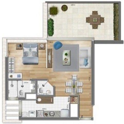 Apartamento com 1 Dormitório é 1 Vaga de Garagem no Bairro Mont - Foto 5