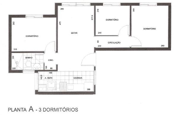 Apartamento com 3 Dormitórios no Bairro São Sebastião em Porto - Foto 9