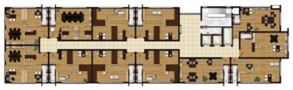Sala comercial no bairro Moinhos de Ventos, próximo ao Hospital Moinhos de Vento. Com 1 vaga de garagem e terraço.  Edifício com estacionamento rotativo, 3 elevadores, port corchore, auditório com 50 lugares.