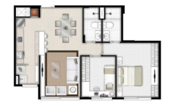 Apartamento com 2 Dormitórios Sendo 1 Suíte é 1 Vaga de Garagem - Foto 4